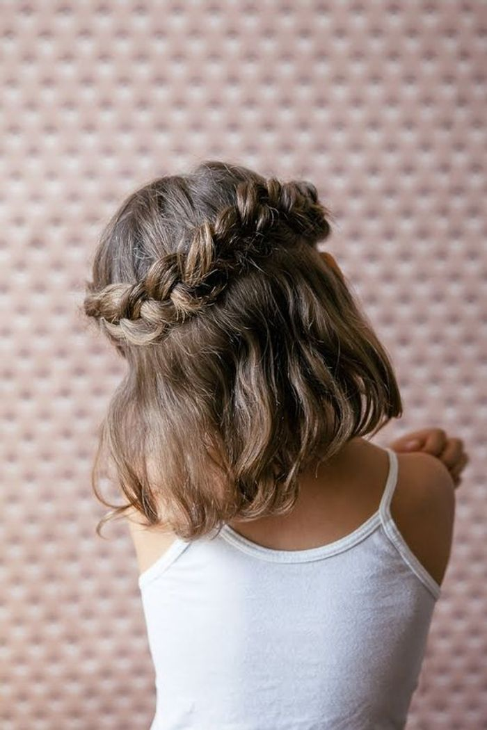 coiffure petite fille avec tresse 40 coiffures de petite. Black Bedroom Furniture Sets. Home Design Ideas