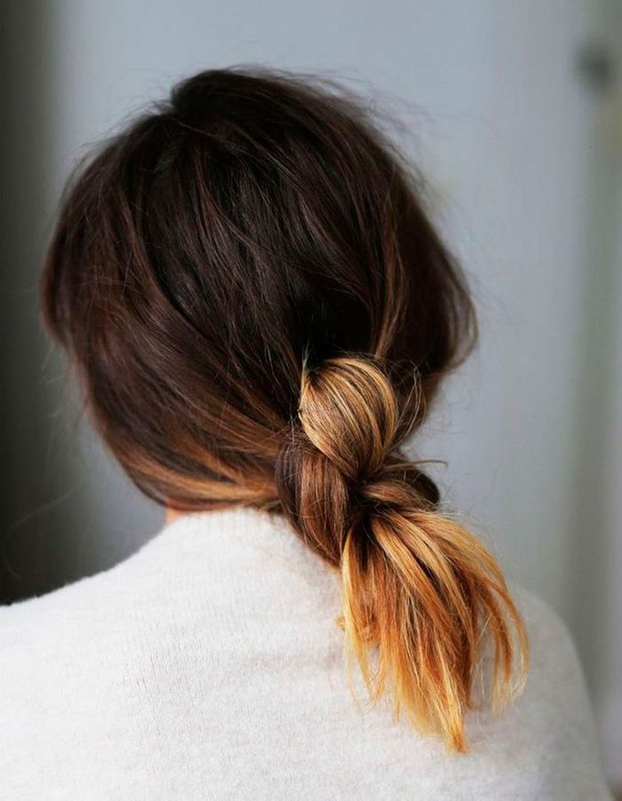 Coiffure simple cheveux mi-longs