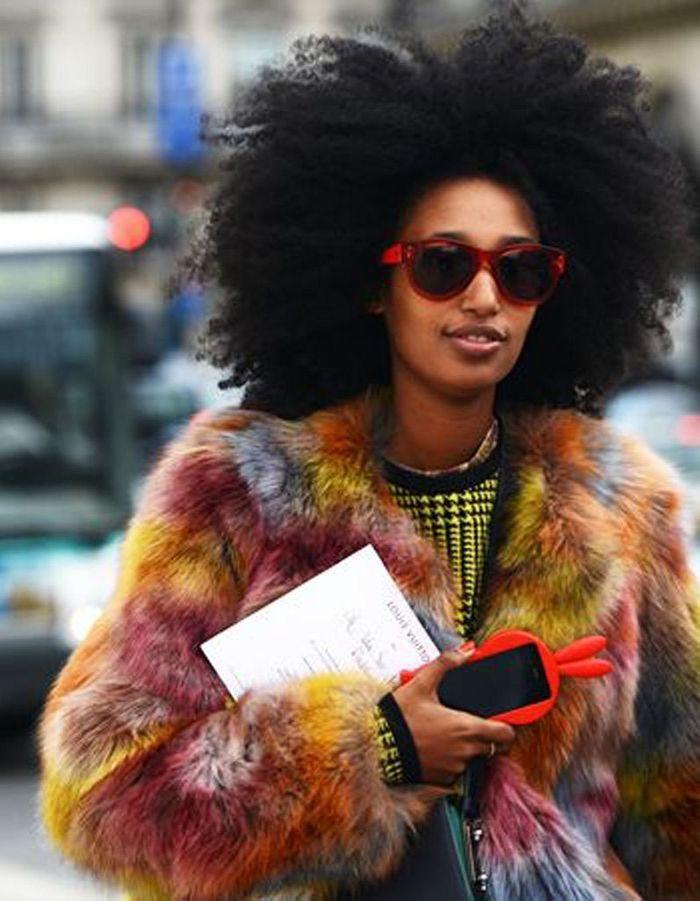 Coupe afro cheveux naturels hiver 2015 coiffures afro les filles styl es donnent le ton elle - Coiffure afro court ...