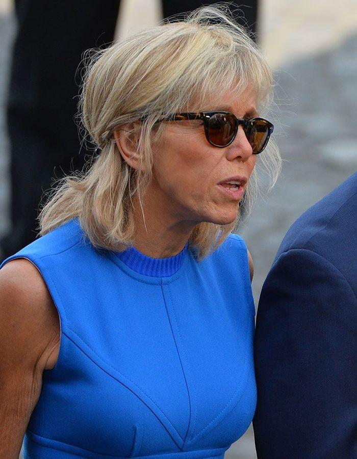 Le half-up de Brigitte Macron