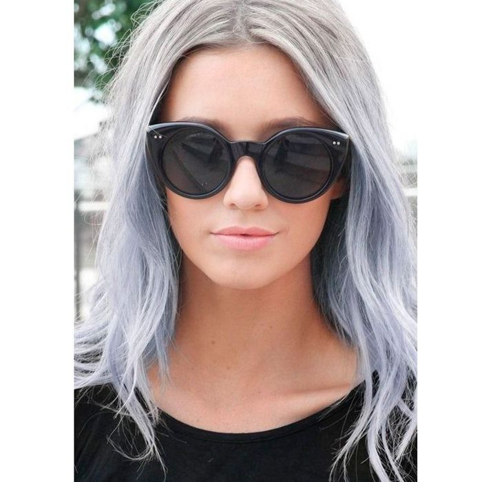 ombr hair gris bleu comment les filles styl es portent le rainbow hair elle. Black Bedroom Furniture Sets. Home Design Ideas