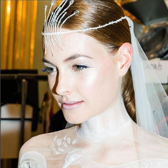 La mariée de Yanina Haute Couture maquillée par Shu Uemura