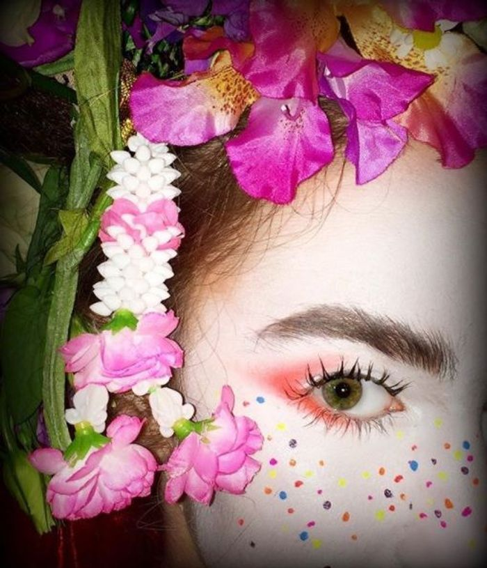 Le beauty look geisha revisité au défilé Desigual printemps-été 2018
