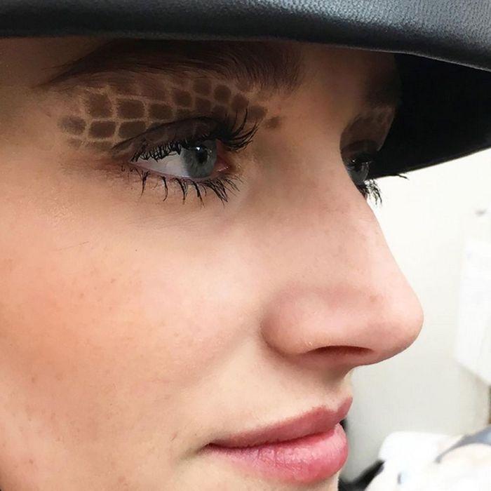 La paupière matelassée du défilé Chanel