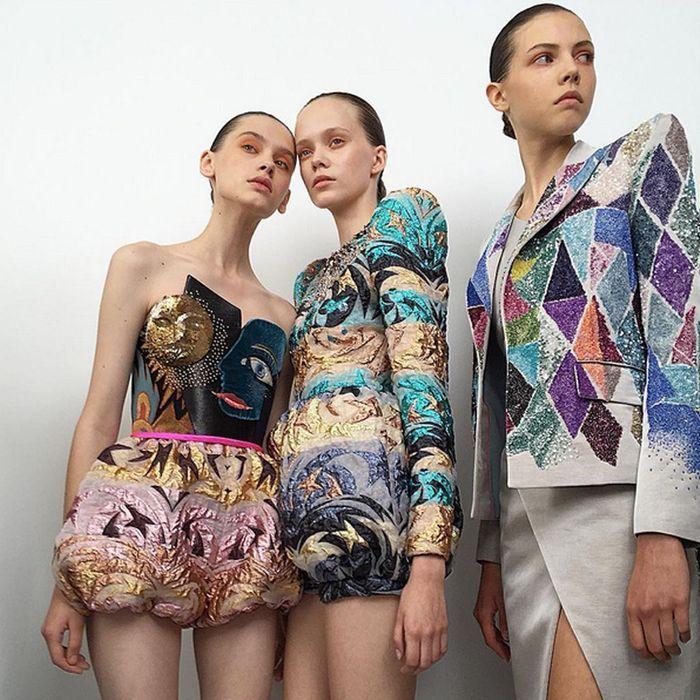 Les mannequins du défilé Elsa Sciaparelli