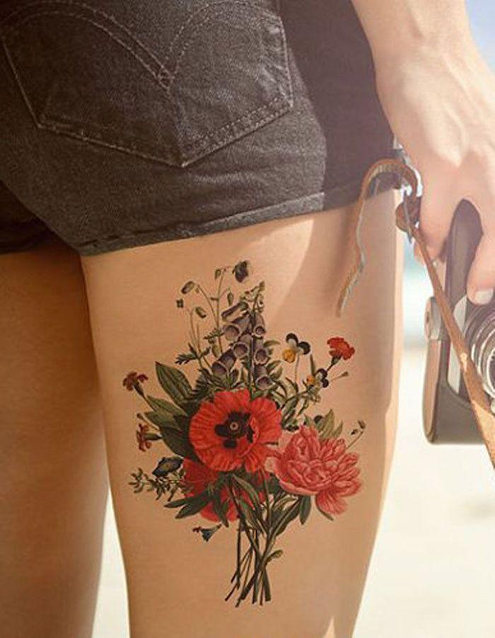 Tatouage cuisse fleur 15 tatouages sur la cuisse qui nous font de belles jambes elle - Tattoo cuisse femme ...
