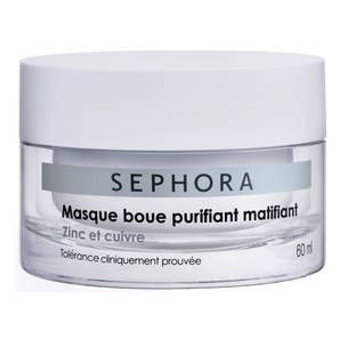 masque boue purifiant matifiant zinc et cuivre sephora 13 95 60 ml masque visage moi. Black Bedroom Furniture Sets. Home Design Ideas