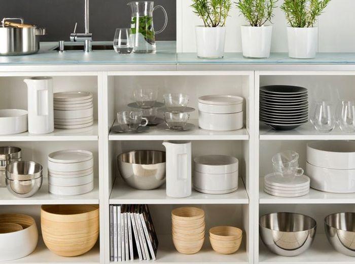 cuisine des rangements beaux et pratiques elle d coration. Black Bedroom Furniture Sets. Home Design Ideas