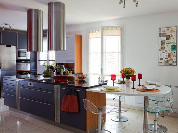 affordable cuisines en lot elles jouent les stars with ilot sur roulette. Black Bedroom Furniture Sets. Home Design Ideas