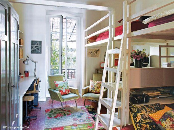 Decoration d une chambre tapis design salon combin for Chambre dortoir design