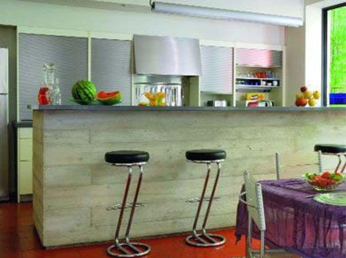Les mat riaux dans la cuisine elle d coration - Revetement table cuisine ...