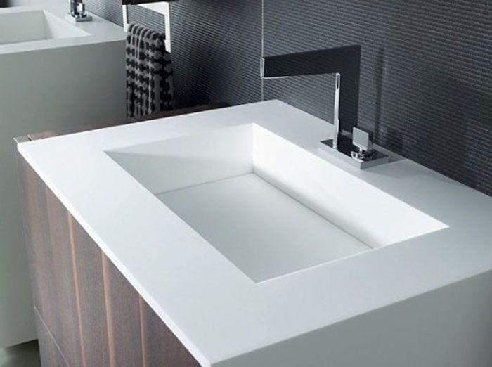 Les vasques osent tous les styles elle d coration - Van plan corian ...