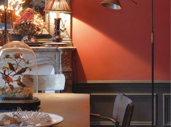 Peinture associez les couleurs et les mati res elle - Deco salon couleur chaude ...