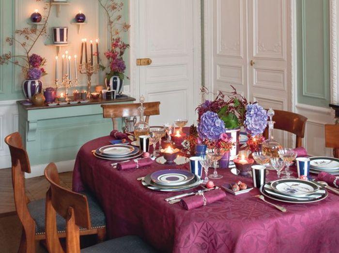 Tables de f tes de belles id es pour recevoir elle d coration - Decoration table a manger ...