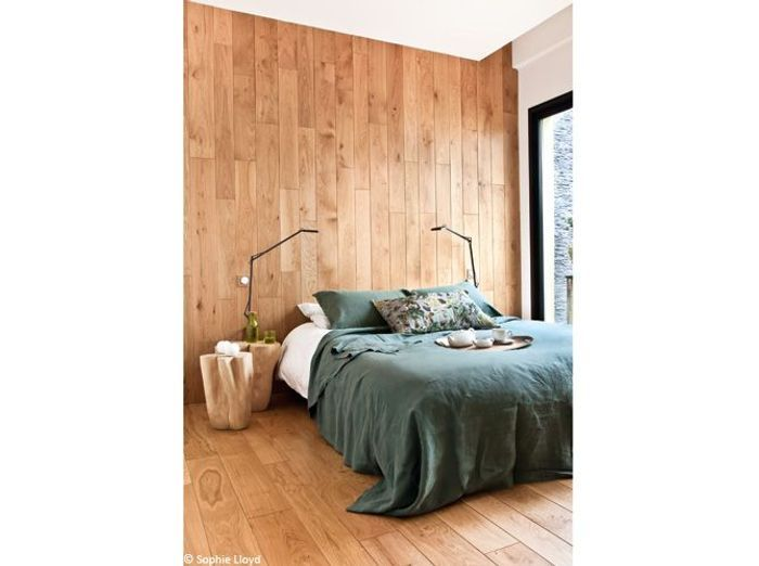 tendance le bois habille nos murs elle d coration. Black Bedroom Furniture Sets. Home Design Ideas