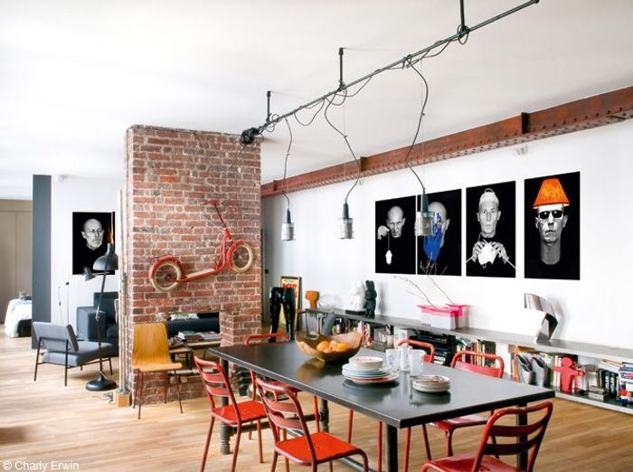 Un beau loft new yorkais paris elle d coration for Loft new york affitto