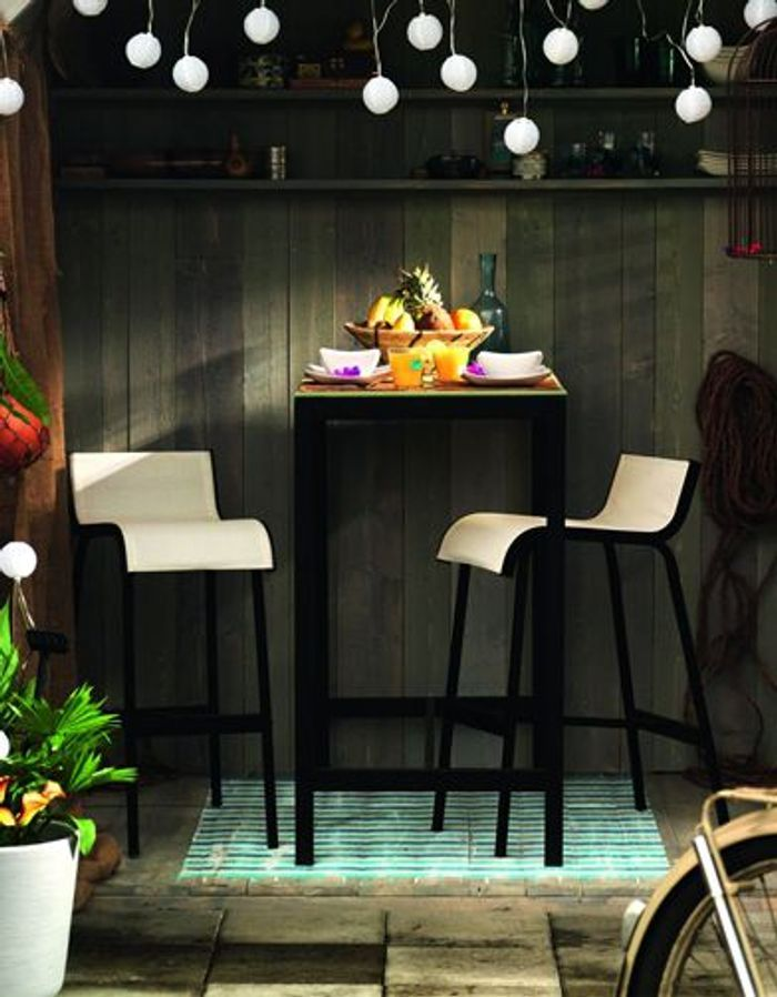 50 meubles de jardin shopper elle d coration for Bar de jardin ikea