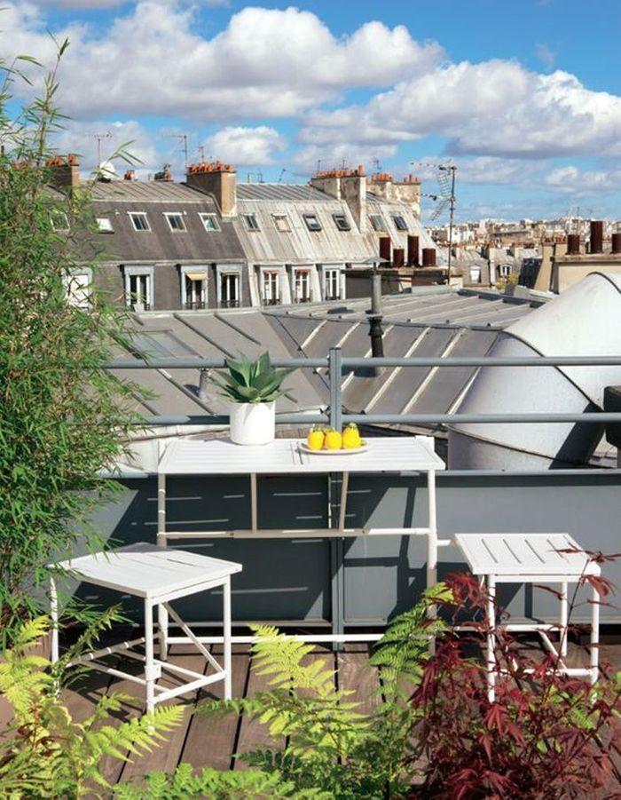 20 id es pour am nager un petit balcon elle d coration. Black Bedroom Furniture Sets. Home Design Ideas