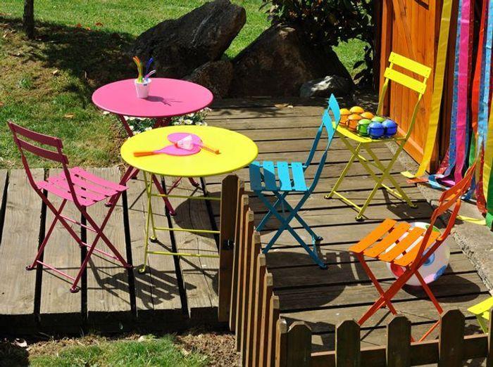 table chaises pliantes enfant fermob - Table Et Chaise De Jardin Pour Enfant