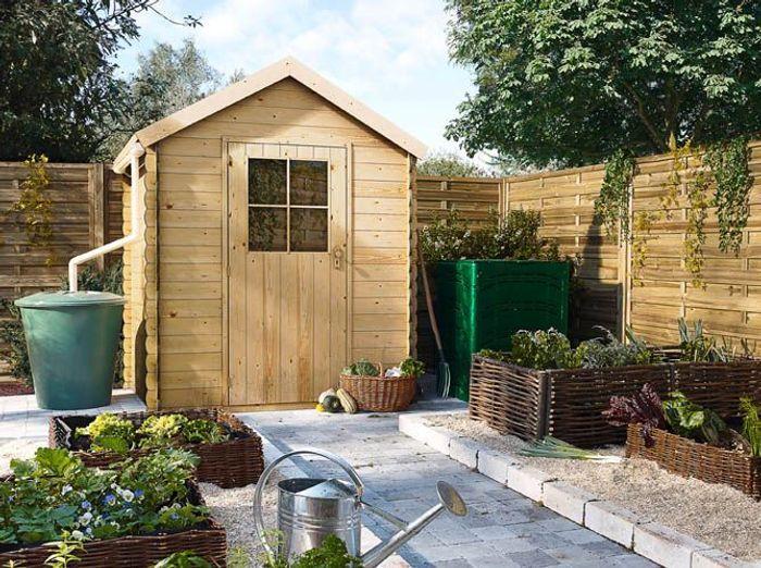 Une jolie cabane pour mon jardin elle d coration for Cabane de jardin en bois castorama