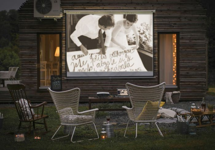 Créez-vous un espace cinéma dans le jardin