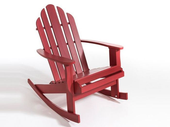 Rocking chair jardin rouge la redoute