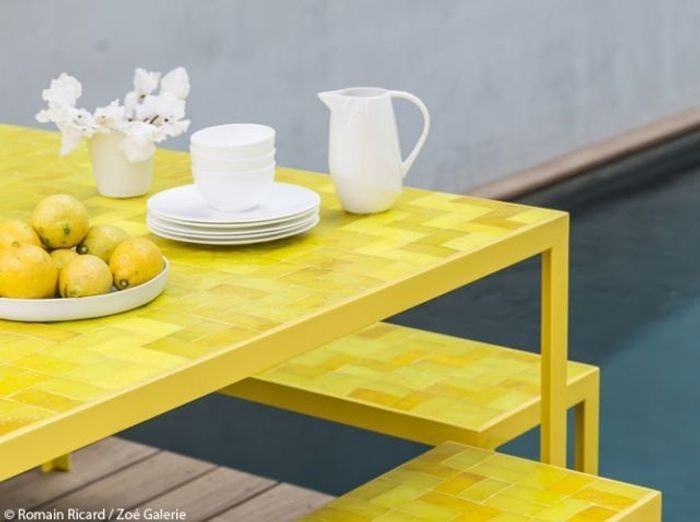 Table jaune vitaminé