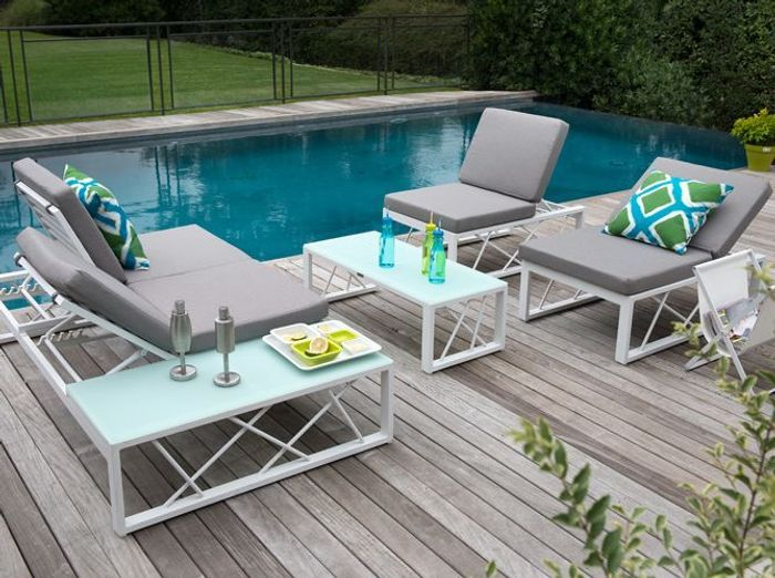 Emejing Table De Jardin Ronde Truffaut Images - Amazing House ...