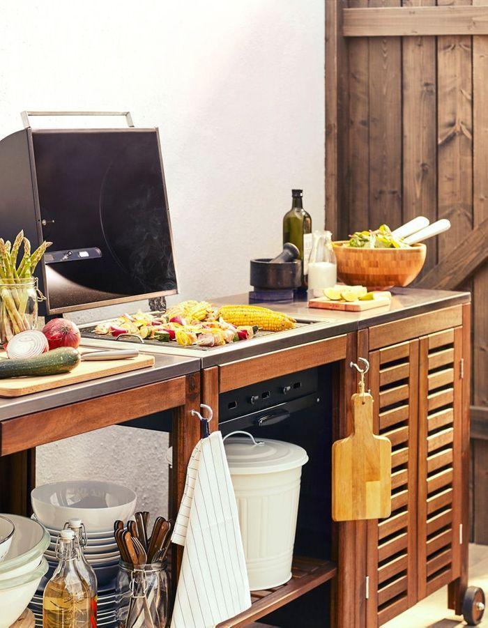 cuisine ext rieure 15 mod les pratiques et esth tiques elle d coration. Black Bedroom Furniture Sets. Home Design Ideas