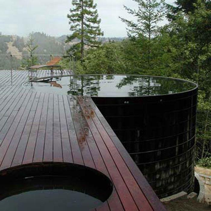 Les piscines de r ve de notre t sur pinterest elle d coration - Piscine a debordement de reve brest ...
