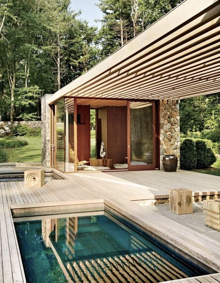 Pinterest les 30 plus belles piscines qui vont vous faire r ver elle d co - Fabriquer une piscine en bois ...
