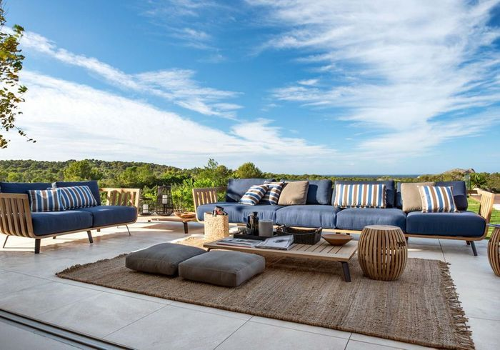 tapis ext rieur on habille l 39 outdoor de fa on styl e elle d coration. Black Bedroom Furniture Sets. Home Design Ideas