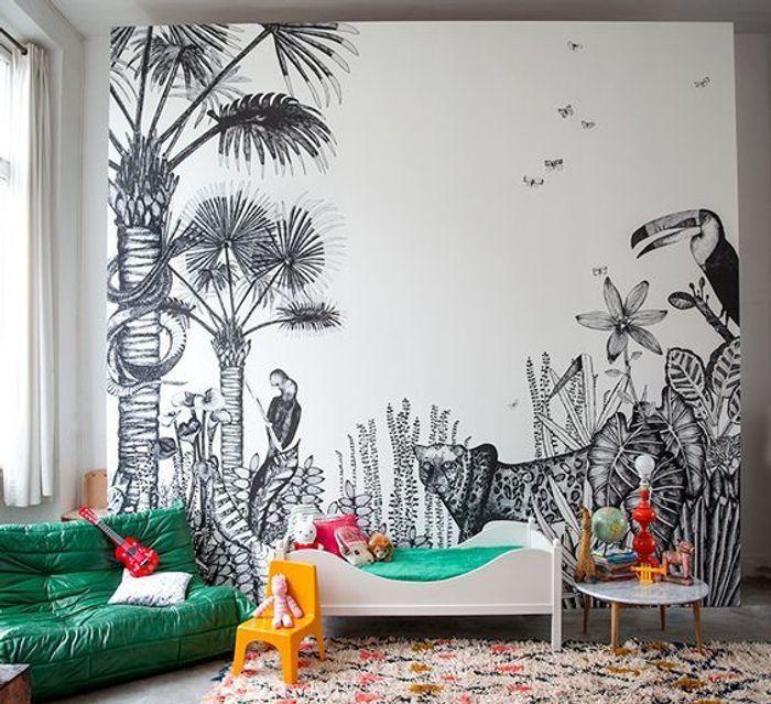 Un papier peint illustré façon safari