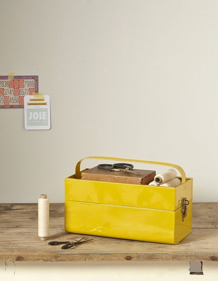 Caisse à outils jaune moutarde Cyrillus
