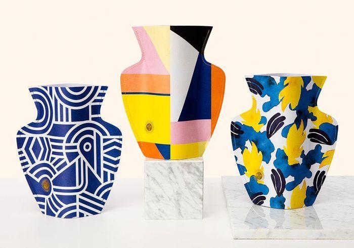 Cache-vase en papier Octaevo