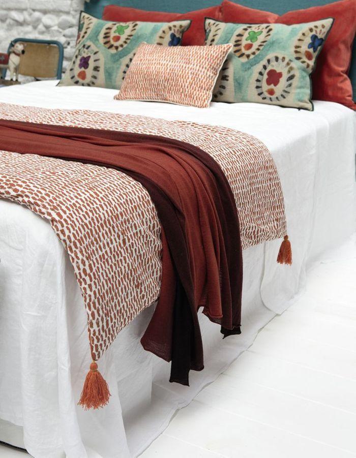 Du linge de lit terracotta