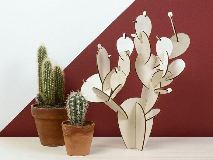 Un cactus en bois