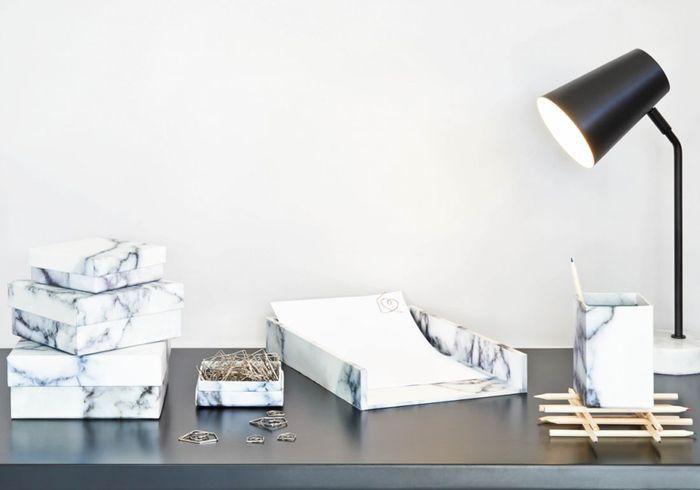 Boîtes de rangement en marbre