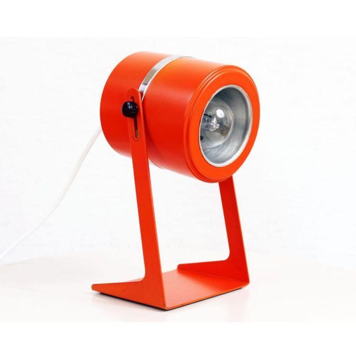 Lampe de Bureau en Métal Orange, 1970s