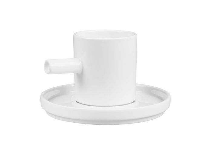 Tasse à café et soucoupe en porcelaine Habitat