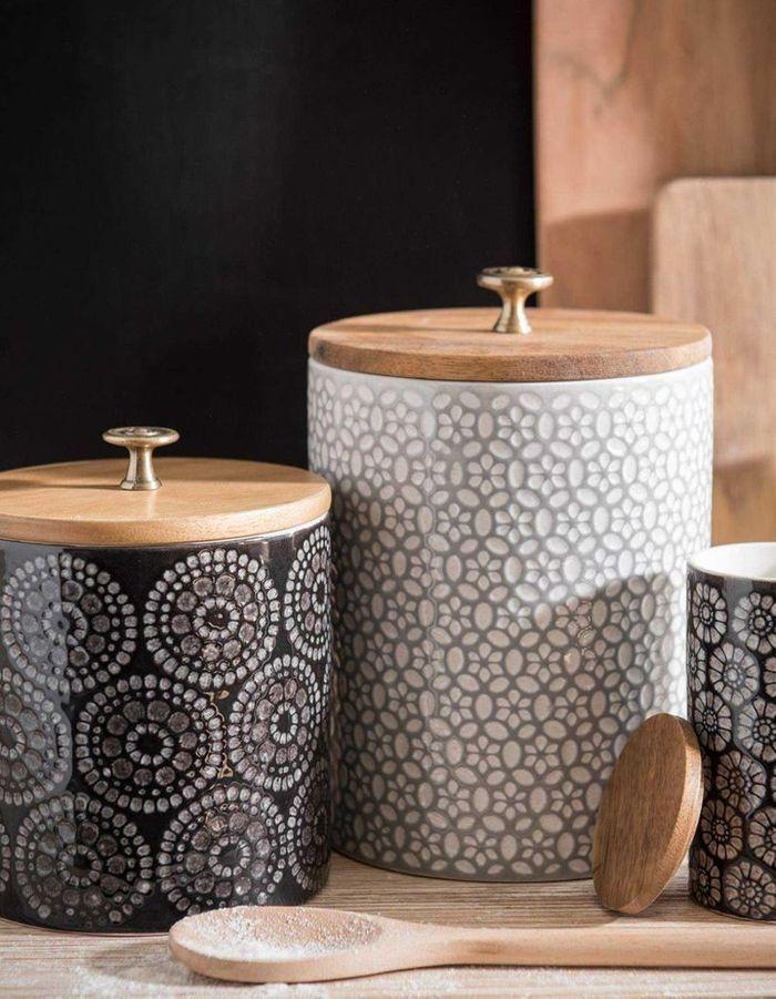 Boîtes en céramique à motifs Maisons du Monde