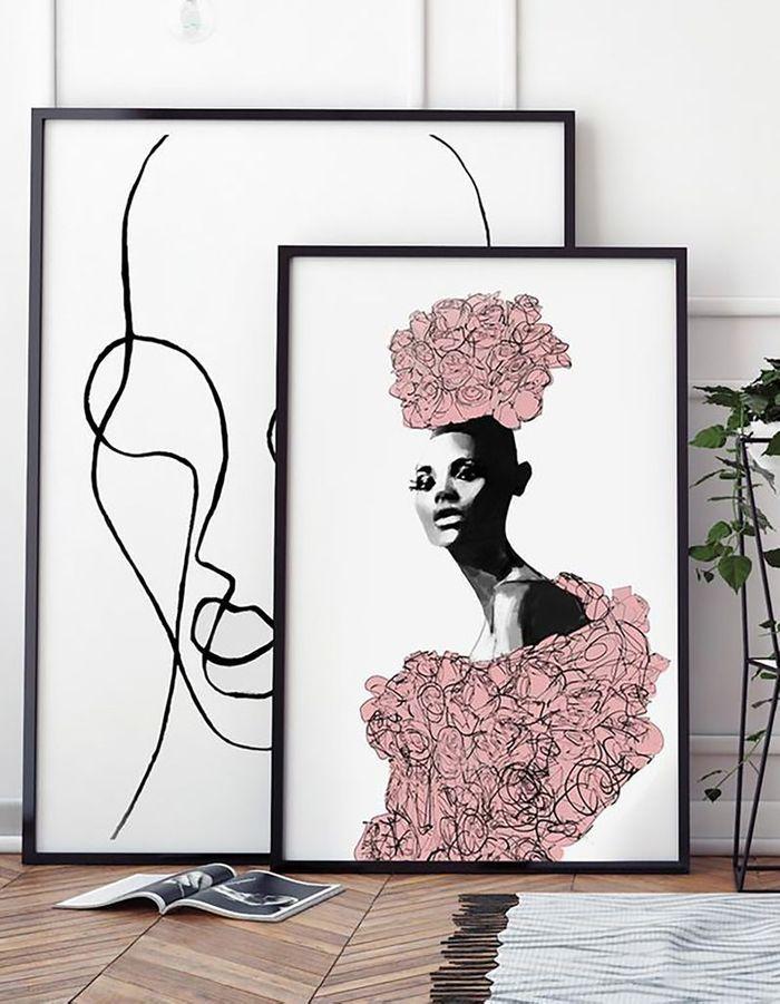 Une déco fleurie via une affiche
