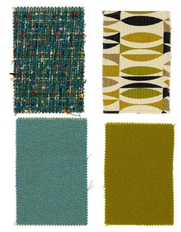 bleu vert jaune et noir la palette trendy des fifties. Black Bedroom Furniture Sets. Home Design Ideas