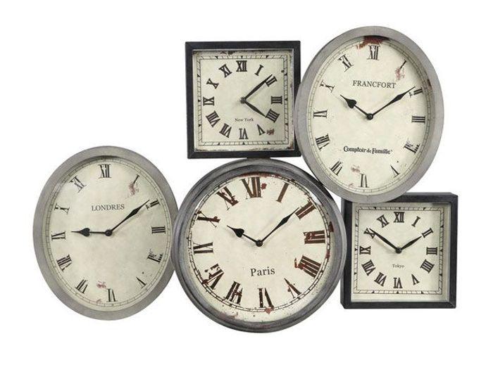 Deco campagne horloge