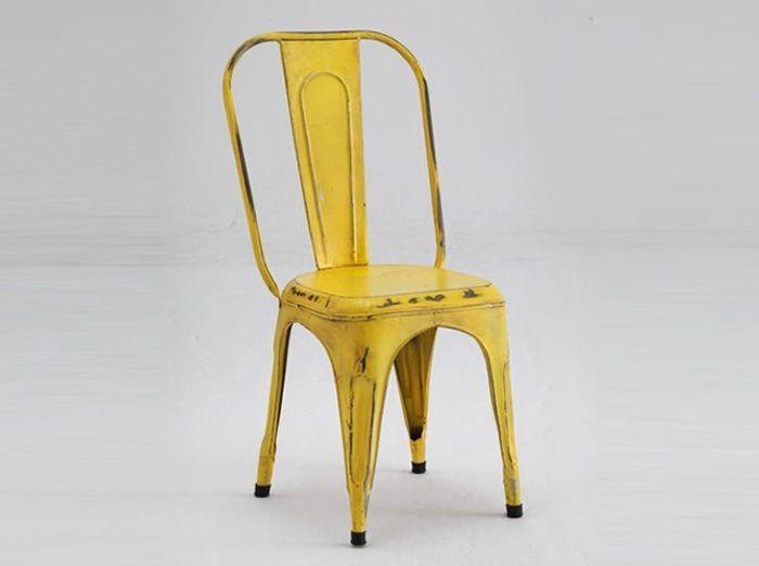 Deco jaune chaise