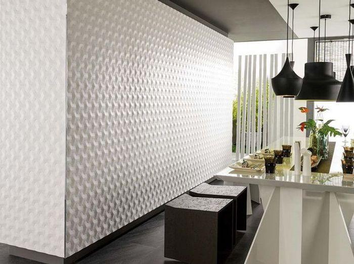 Tendance Quand Nos Intérieurs Prennent Du Relief Elle Décoration - Carrelage 3d cuisine pour idees de deco de cuisine