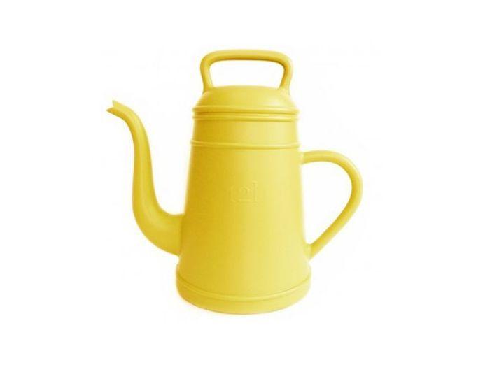 Arrosoir geant jaune fleux