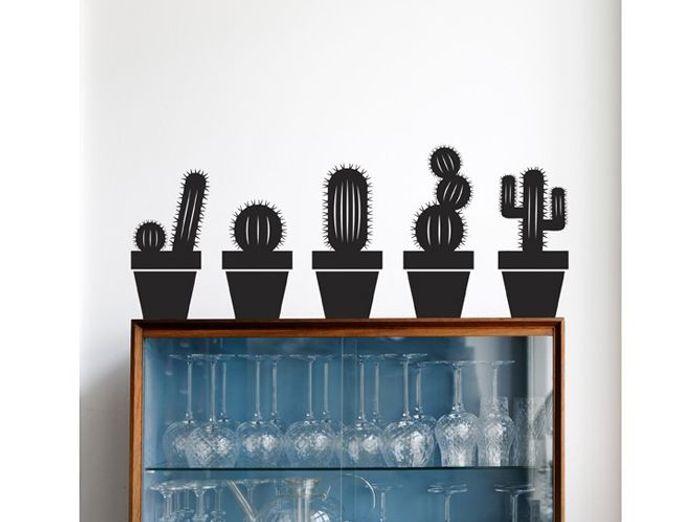 Stickers cactus noirs ferm living