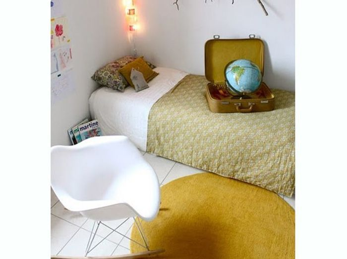 Chambre bleu canard jaune id es de d coration et de for Decoration murale jaune moutarde