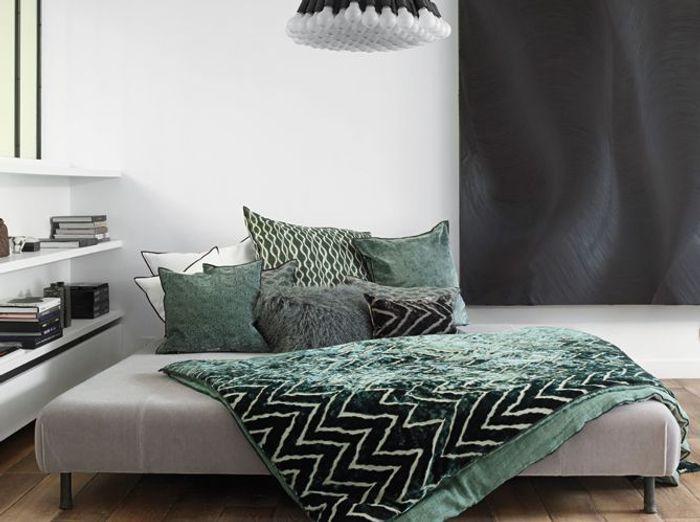 L 39 inspiration du jour cet hiver on d cline le vert for Inspiration couleur chambre